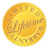 Limited Lifetime warrenty badge
