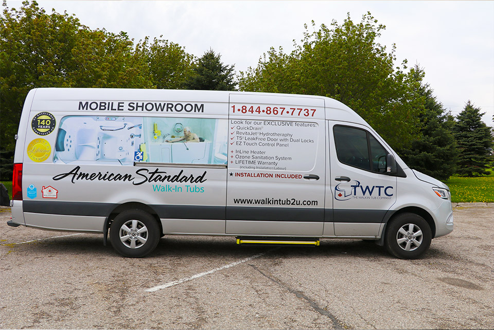 Exterior shot of our Mobile Showroom van